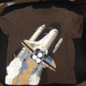 Gymboree Boys Space Shuttle T-shirt Size 4